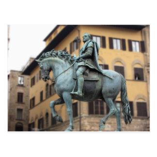 Equestrian statue of Cosimo de Medici, Florence Postcard