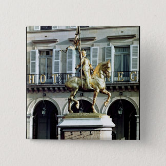 Equestrian statue of Joan of Arc Button