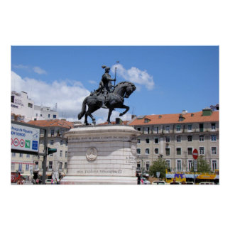Equestrian statue of King John I of Portugal Poster