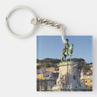 Equestrian statue of King José I, Lisbon Double-Sided Square Acrylic Keychain