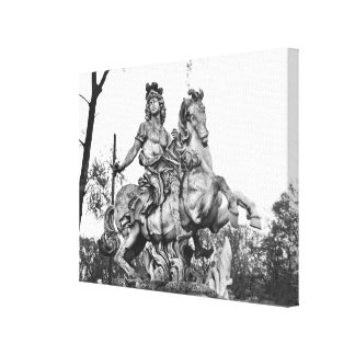Equestrian statue of Louis XIV Canvas Print