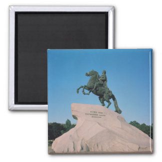 Equestrian statue of Peter I  the Great, 1782 2 Inch Square Magnet