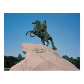 Equestrian statue of Peter I  the Great, 1782 Postcard