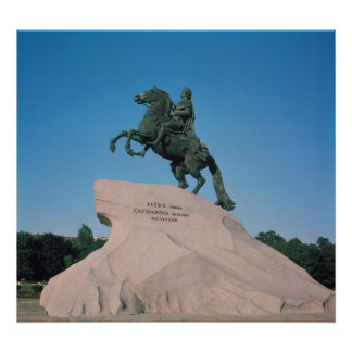 Equestrian statue of Peter I  the Great, 1782 Poster