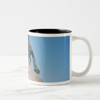 Equestrian statue of Peter I  the Great, 1782 Two-Tone Coffee Mug