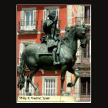 Equestrian statue of Philip III, Madrid Postcard