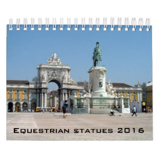 Equestrian statues calendar - 2016