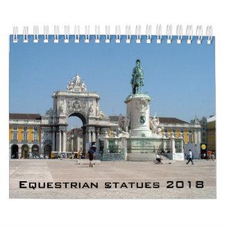 Equestrian statues calendar - 2018