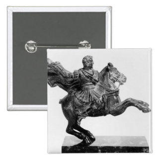 Equestrian statuette of Alexander the Great 2 Inch Square Button