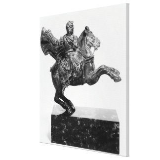Equestrian statuette of Alexander the Great Canvas Print