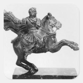 Equestrian statuette of Alexander the Great Square Sticker