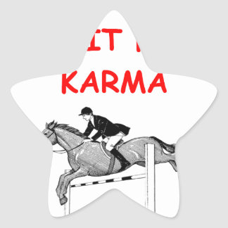 equestrian star sticker