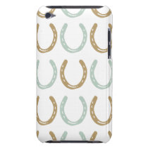 Equestrian Themed Horse Shoes Pattern Barely There iPod Cover