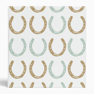 Equestrian Themed Horse Shoes Pattern Binders
