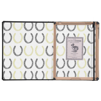 Equestrian Themed Horse Shoes Pattern iPad Covers