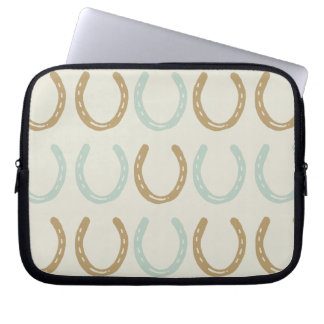 Equestrian Themed Horse Shoes Pattern Computer Sleeve