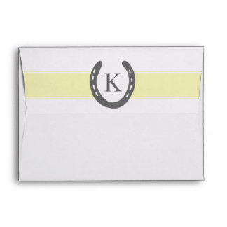 Equestrian Themed Horse Shoes Pattern Envelopes