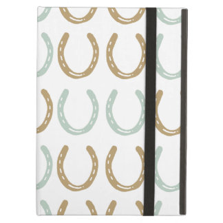 Equestrian Themed Horse Shoes Pattern iPad Air Cover