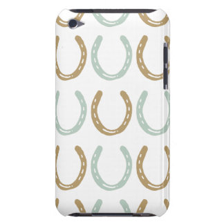 Equestrian Themed Horse Shoes Pattern iPod Touch Case