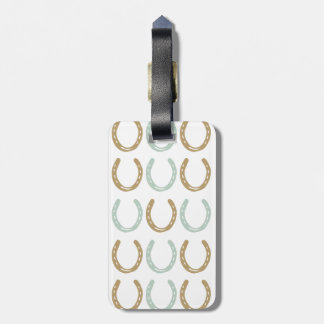 Equestrian Themed Horse Shoes Pattern Tag For Luggage