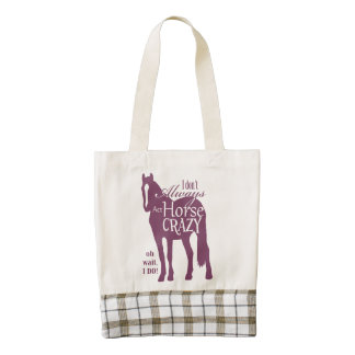 Equestrian Themed Horse Shoes Pattern Zazzle HEART Tote Bag