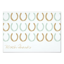 Equestrian Themed Horse Shoes Thank You Card
