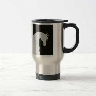 Equestrian Travel Mug Horse Silhouette Coffee Cup