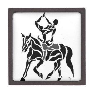 Equestrian Vaulter Premium Keepsake Boxes