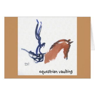 Equestrian Vaulting note cards