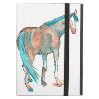Equestrian Watercolor Abstract Horse Painting Case For iPad Air