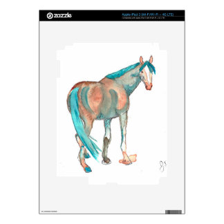 Equestrian Watercolor Abstract Horse Painting iPad 3 Skins