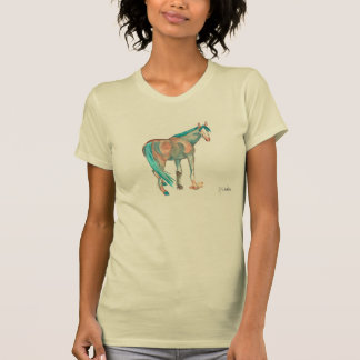 Equestrian Watercolor Abstract Horse Painting T Shirt