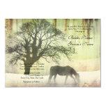 "Equestrian Wedding Invitation 5"" X 7"" Invitation Card"