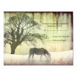 Equestrian Wedding RSVP Custom Announcement