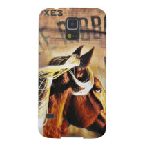 equestrian western country barn wood horse case for galaxy s5