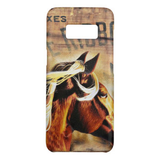 equestrian western country barn wood horse Case-Mate samsung galaxy s8 case