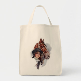 Equestrian Woman Tote Bags