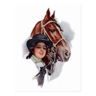 Equestrian Woman Postcards
