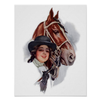 Equestrian Woman Posters