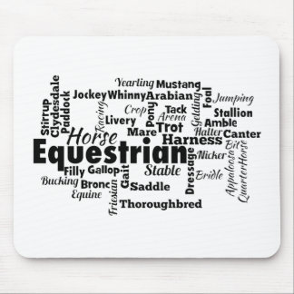 Equestrian Word Cloud Mousepads