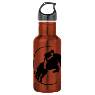 Equestrian; yellow 18oz water bottle