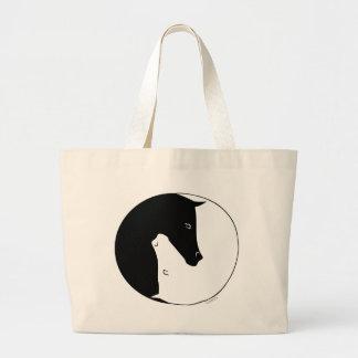 Equestrian Ying Yang Canvas Bags