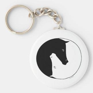 Equestrian Ying Yang Keychain