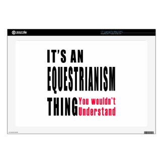 "Equestrianism Thing Designs 17"" Laptop Decal"