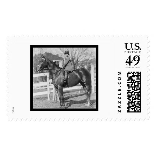 Equestrienne Girl on Her Horse 1926 Stamp