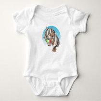Equi-toons 'Apple Magnet' horse babies vest. Baby Bodysuit