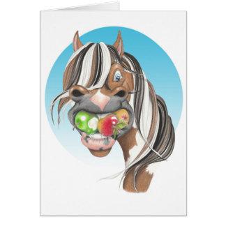 Equi-toons 'Apple Magnet' horse  greetings Card. Card