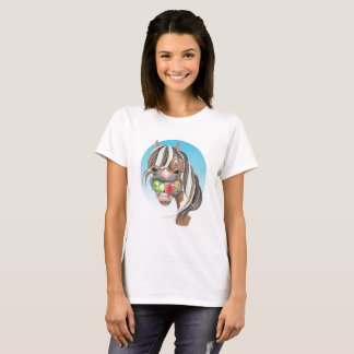 Equi-toons 'Apple Magnet' horse   t-shirt. T-Shirt