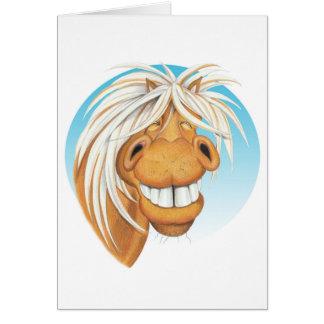 Equi-toons 'Cheeky Chappie' horse companion . Card