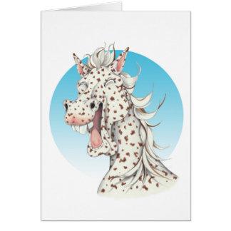 Equi-toons 'Domino' Appaloosa horse companion Card